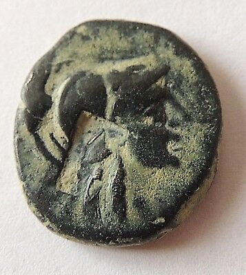 Ancient Greek bronze coin,countermark,high grade   ////2