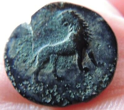 Ancient Greek bronze coin,high grade   ////3