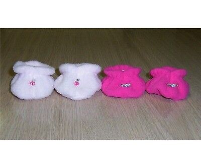 """14"""" CABBAGE PATCH KIDS DOLL BOOTS x2 pair 35cm SML dolls BOOTIES shoes PINK"""