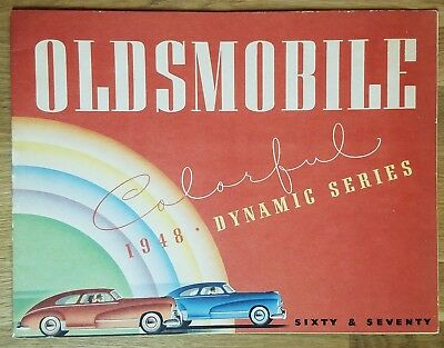 "1948 OLDSMOBILE Brochure DYNAMIC SERIES ""60""/""70"" Sedan Coupe Convertible Wagon"