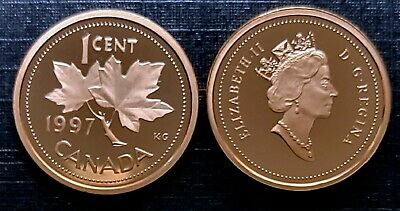 Canada 1997 Proof Gem UNC One Cent Penny!!