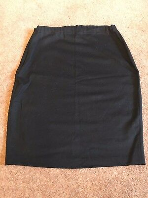 Black Wool Designer Maternity Skirt, Maman by Saville-Edells, One Size, VGC