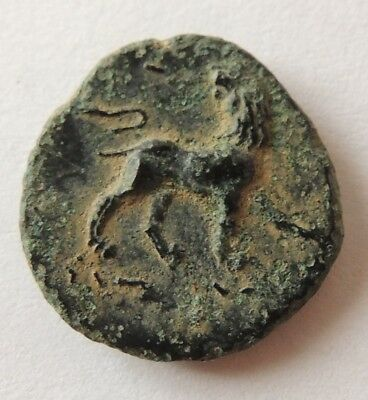 Ancient Greek bronze coin,high grade   ////4