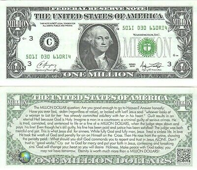 AMERICAN PILGRIM GOSPEL TRACTS DOLLAR BILL PLAY MONEY