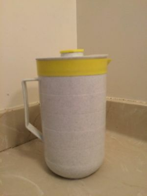 Vintage Gray Speckled Cornish Therm-O-Pitcher 2 Qt. Retro with Lid