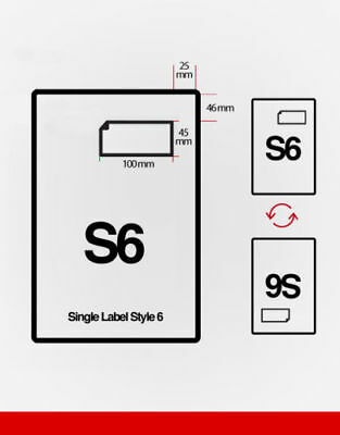 1000 S6 Single Integrated label Single Style F