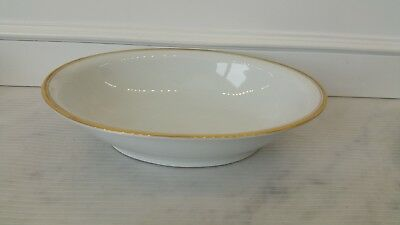 Vintage Meito Royalty Fine China Japan Hand Painted Gold Rim vegetable bowl