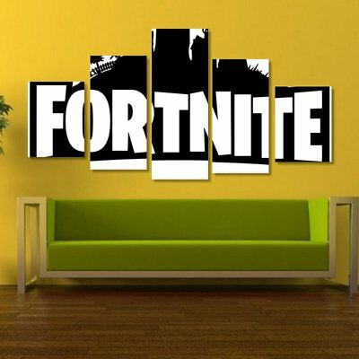 Fortnite Vintage Poster Scroll Painting Canvas Wall Art Picture Decoration HX