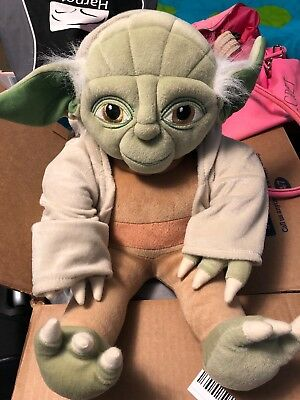 Star Wars Yoda Jedi Hooded Robe Stuffed Plush Doll Toy 18""