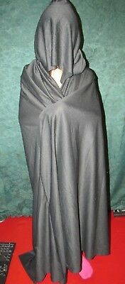 Halloween costume ADULT BLACK CAPE COAT