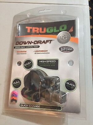 New Truglo Down-Draft Full Containment Drop Away Arrow Rest- Lost Camo Realtree