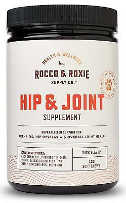 Hip and Joint Supplement Glucosamine for Dogs Maximum Strength 120 Soft Chews