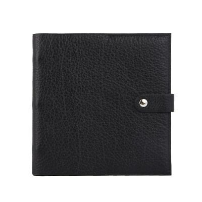 55786 auth HERMES black Vache Liegee leather Adresse Book Phone Book Notebook