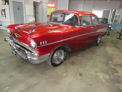 1957 Bel Air/150/210 210 1957 Chevrolet Bel Air 210 8,504 Miles Red  350CI V8 Automatic