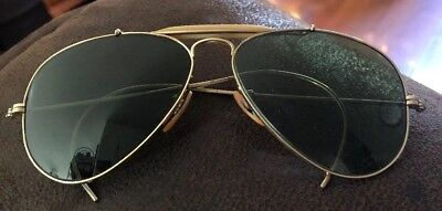 3742d135f97c43 VINTAGE WW2 BAUSCH LOMB RAY BAN 1 20 12K GOLD FILLED AVIATOR Green GLASSES