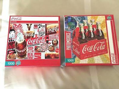 Coca Cola Jigsaw Puzzle Coca Cola 1000 Piece Buffalo Games Lot of 2 11/8