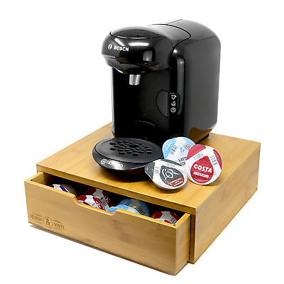 Bamboo 64 Tassimo Pod Holder | Capsule Drawer & Coffee Machine Stand | M&W