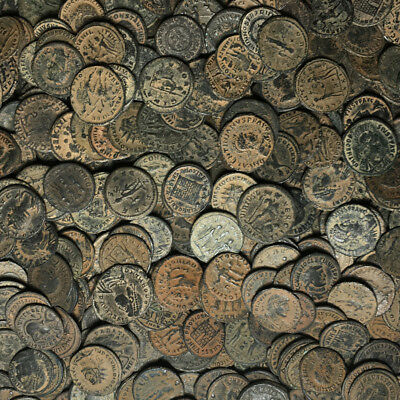 Premium Quality - Lot Of 100 Roman Bronze Coins - Follis And Antoninian