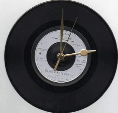 """The Cure - In Between Days 7"""" Vinyl Record Wall Clock"""
