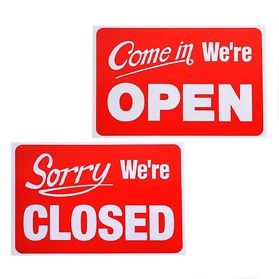 New Business Hours Open Closed Sign Window Plastic Sign For Cafe Restaurant Shop