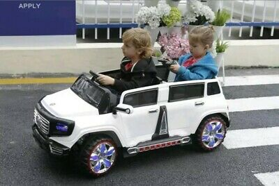 KIDS LATEST 2-Seater BIG ROOMY 4-Door 12V Electrc RideOn TOY TRUCK CAR Remote RC