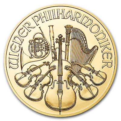 2019 Austria 1/25 oz Gold Philharmonic BU - SKU#173455