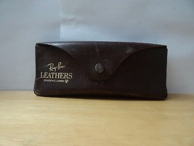d05dff92aa2 ray ban leathers bausch   lomb case only brown leather case vtg rare