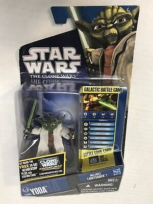 Star Wars Yoda Jedi Master The Clone Wars CW05 3 3/4 Action Figure New on Card