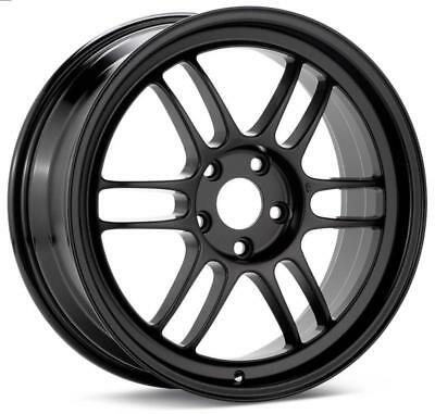 15 4x100 Matte Black Effect Rims Scion Xa Xb Low Offset Miata G3 4