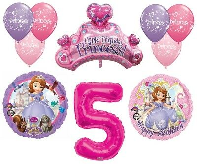 Disneys Sofia The First 5th Happy Birthday Party Balloons Decorations Supplies