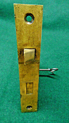 ONE VINTAGE R & E RUSSELL & ERWIN MORTISE LOCK w/KEY - RECONDITIONED (10716)