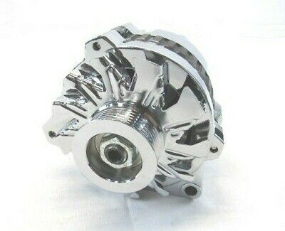 Chrome Chevy GM Left Mount Serpentine 130 Amp High Output Alternator street rod