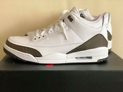 8161419140b Air Jordan 3 III Retro Mocha 136064-122 White Mens Basketball Shoes  Sneakers NIB