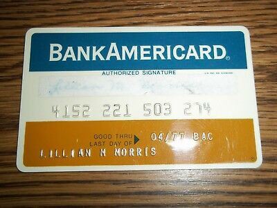 Vintage BankAmericard Charge Card