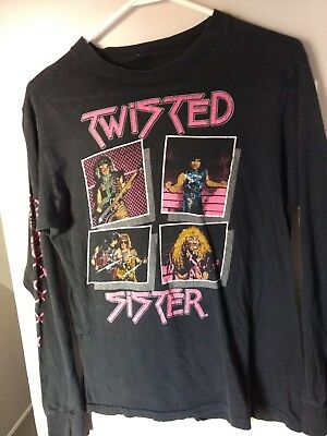 Vintage Twisted Sister concert tour t shirt long sleeve 84-85 Stay Hungry