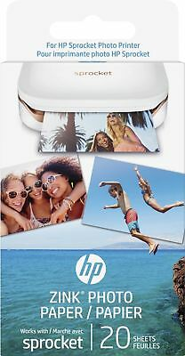 HP ZINK Sticker Photo Paper for Sprocket Printer 2x3-inch (20 sheets) - NEW™