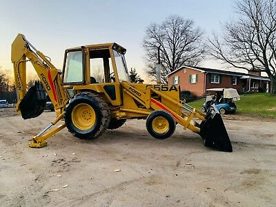New Holland 655A Ford Tlb Backhoe Loader Full Cab Rubber Tire Tractor Bob Cat