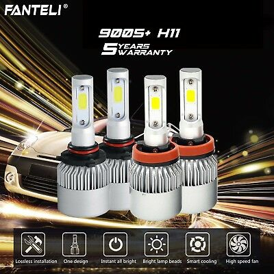 Car & Truck Xenon Light Bulbs Auto Parts and Vehicles Combo H11-55W 9005-HB3-65W DOT Stock Clear OEM Halogen Bulbs #Ga7 High/Low Beam