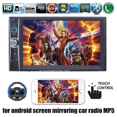 "7"" 2DIN Car Radio Touch Bluetooth Stereo MP5 Player AUX/USB HeadUnit Mirrorlink"
