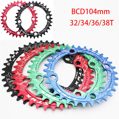 Moutian Bike Chainring BCD104mm Single Speed Narrow Wide Chain Ring 32T-38T