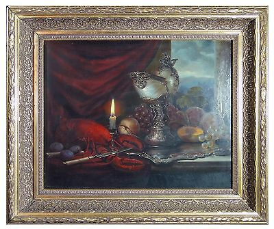 Flamisch oil on board painting still life