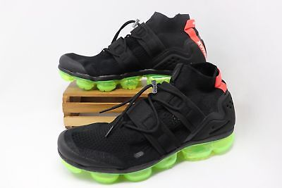 Nike Air VaporMax Flyknit Utility Shoes Black Volt Crimson AH6834-007 Men's NEW