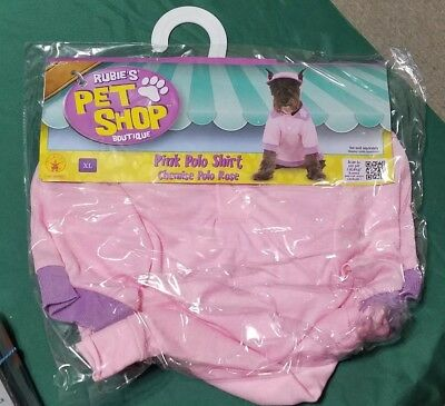 New Rubie's Pet Shop Boutique Pink Polo Shirt - XL - Dog costume Cute
