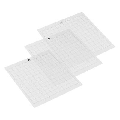 """3PCS 12"""" Replacement Cutting Mat Transparent Adhesive Grid for Silhouette Cameo"""