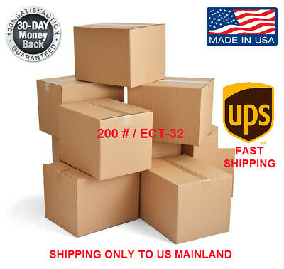 8x8x6 25/pk Shipping Packing Mailing Moving Boxes Corrugated Carton