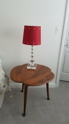 Vintage ETHAN ALLEN MAPLE DROPLEAF Triangular SIDE TABLE, LAMP TABLE 10-8355.