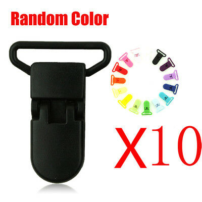 10PCs Baby Colored Plastic Suspender Soother Pacifier Holder Dummy Clip For Baby