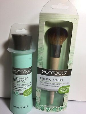 6f7759e20294 ECOTOOLS PRECISION BLUSH Brush & Makeup Brush Shampoo New
