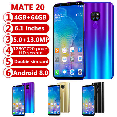 """6,1"""" Touch Android 8.0 Mobile Smart Phone Octa Core Dual SIM 4G+64GB Mobile"""