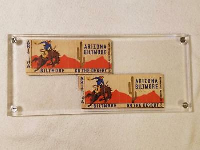 """Vintage Matchbook Covers from the Arizona Biltmore Hotel """"On The Desert"""""""